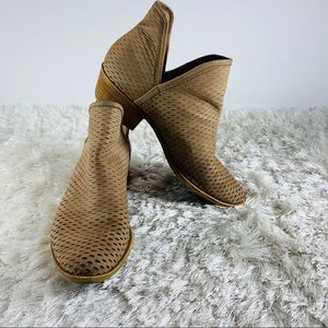 Baley Perforated Chop Out Booties 8.5M